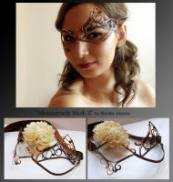 Masquerade Mask II- wire wrapped copper mask by mea00