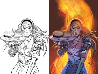 POSTAL #24 WITCHBLADE homage variant by kmichaelrussell