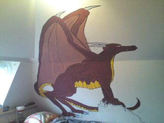 Dragon on my wall by dragon-pinguin