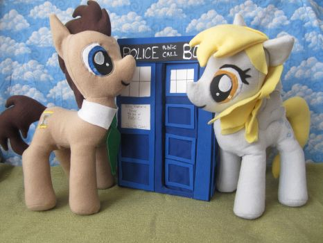 Dr Whooves and Miss Derpy by Rei2jewels