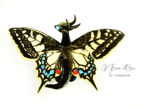 Robin, Swallowtail Butterfly dragon by rosepeonie