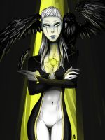 GlaDOS the Crow Lady by DeviouslyMoo
