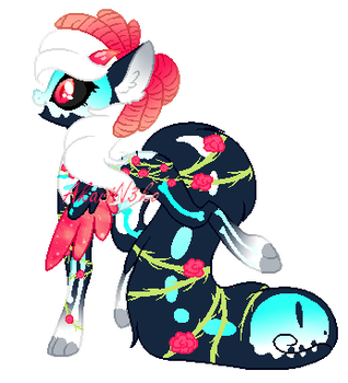 Day of The Dead Tailmouth Pon -open- by AkariN3ko