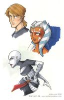 clone wars sketches by katiecandraw
