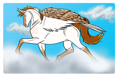 Trotting On Clouds by Sasstiel