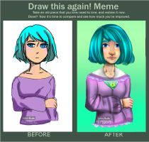 Re-draw of my first digital drawing by Katze-Doshi