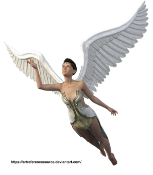 Stock:  Angel in flight PNG by ArtReferenceSource
