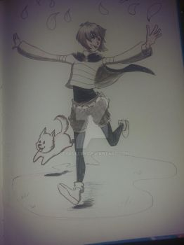 Mage!Frisk sketch by TexasBean