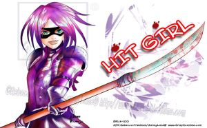 HIT GIRL : FAN ART by GraphicAnime