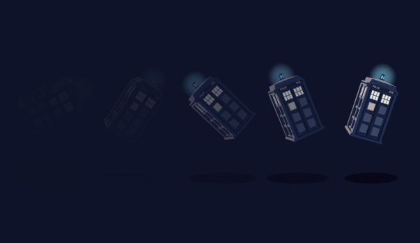 TARDIS Background by ellehcore