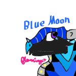 Pen-Font Blue Moon the Night/SeaWing by FlamingGatorGirl