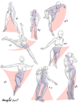 perspective pose references  # 5 by ImoonArt