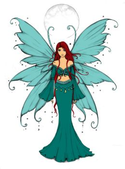 Daily Calm Coloring Contest: Fairy by MutantPiratePrincess