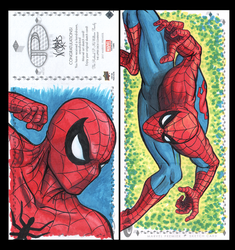 Spiderman Marvel premiere 3 panel from Upperdeck by comicsINC