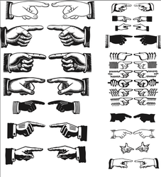 Pointing Hands Vectors by bozoartist
