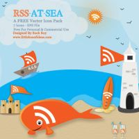 Orange At Sea RSS Vector Icons by littleboxofideas