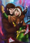 Gambit and Rogue by ladyarrowsmith