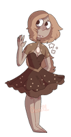 Chocolate Pearl gemsona commission by CharoPL