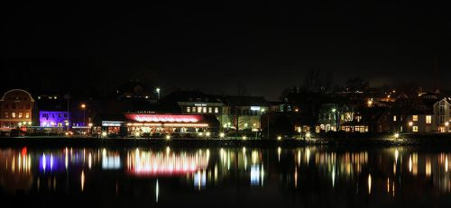 Hadsund Waterfront by night by L-S-P