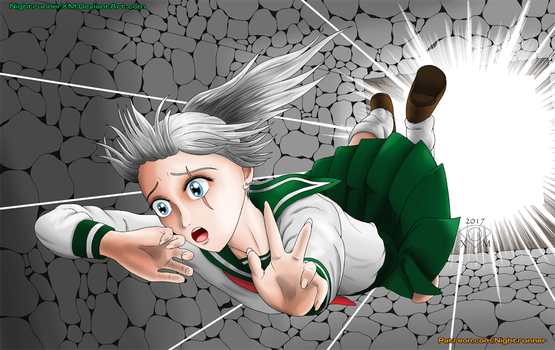 RWBY-Yasha Weiss as Kagome by NightrunnerXM