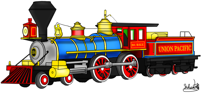 Union Pacific No. 184 by RailToonBronyfan3751