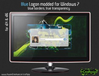 Windows 7 logon - Blue style by CreativeZombic