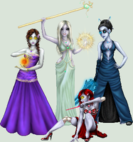 The 4 sisters by ArienRavyn
