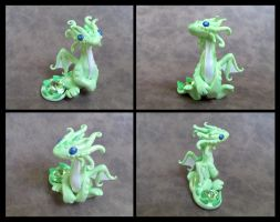 Peridot Green Dragon by DragonsAndBeasties