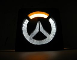 Overwatch logo night lamp by TheGoblinFactory