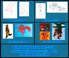 Commission Price Info (Updated/OPEN) by MidnightFire1222