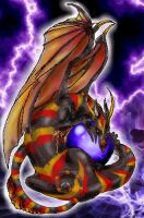 Plasma Dragon with Orb by CelebrenIthil