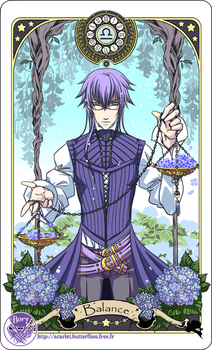 Astrology deck card: Libra by Bory-Einfrost