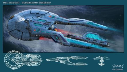USS Trident Timeship by DonMeiklejohn