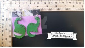 Apatasaurus Earrings by TheTrueGypsyQueen