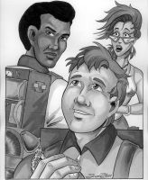 Ray, Winston and Janine by SandySchreiber