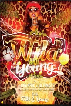 Wild and young flyer template by ultimateboss