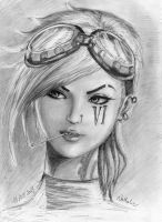 Vi - realistic drawing - League of Legends by Sakura5192