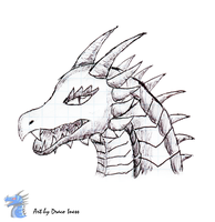 Pen art Dragon #2 by DracoIness