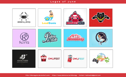 June Logos by DianaGyms