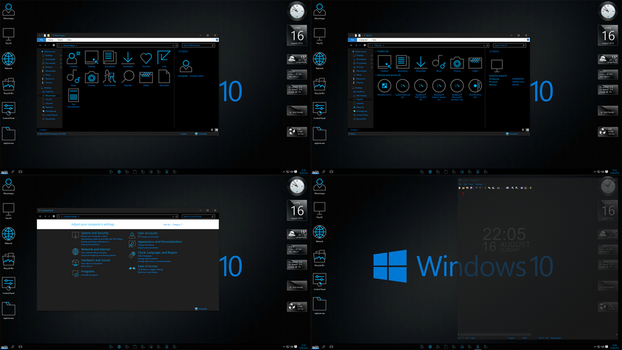 Windows 10 Black edition screen 1 by Moonnique