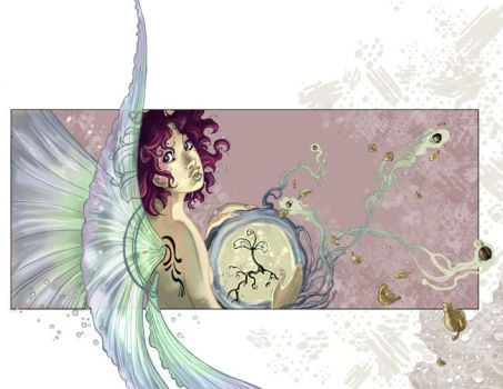 Faery Bookcover - Colors by maina