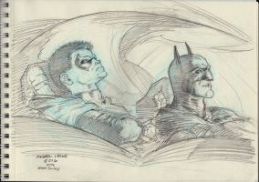 Damian Wayne and Dick Grayson 5-2-2016 by myconius