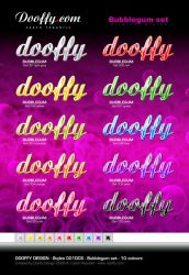 BUBBLEGUM SET - Original Style by Dooffy-Design