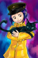 Coraline and Cat by kitaguchi