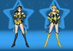 Sailor BlackGold and Sailor GoldBlack by JediSenshi