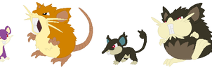 Rattata and Raticate Base
