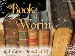 Book Worm Wallpaper by The-Fairywitch