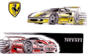 Ferrari F40 + F50 Drag Pack toons by theTobs