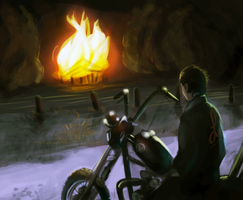 Watching the Barn Burn by revois