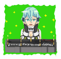 Happy Birthday Sinon! by DEAD-SnAke-by
